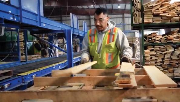 Man making a pallet